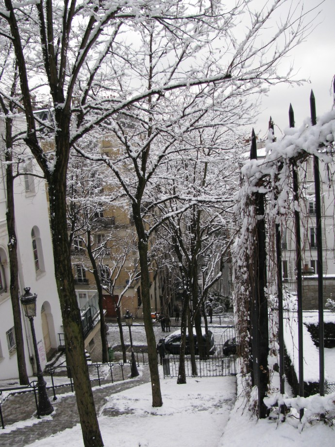 Nevo en Paris. Aqui desde Montmartre