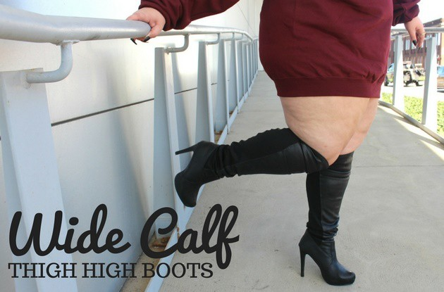 ba40931dcc9c Plus Size Thigh High Wide Calf Boots - Ready To Stare