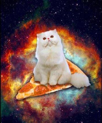 pizza im weltall