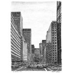 Park Avenue, New York by Stephen Wiltshire