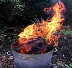 Burning junk in the garden - one answer to hoarding