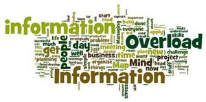 Poster showing information overload