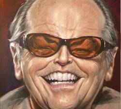 Caricature portrait of Jack Nicholson, by Derren Brown - is there nothing Derren Brown hasn't yet mastered??