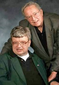 Kim Peek with his devoted father, Fran