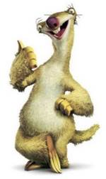 Sid, from Ice Age - an image that helps me memorise playing cards