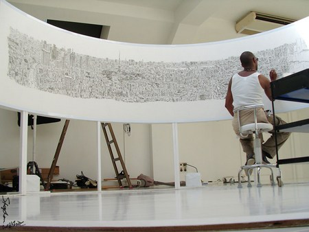 Tokyo cityscape, drawn by Stephen Wiltshire