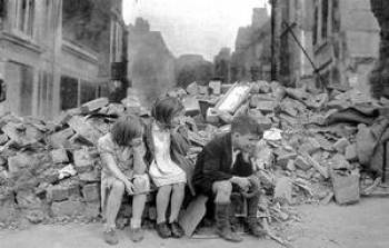 The Blitz, hell on the home front in World War II. Learning history tells us so much about people's experiences.