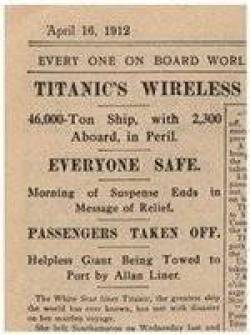 The Daily Mirror was initially optimistic, but the true horror aboard Titanic soon emerged
