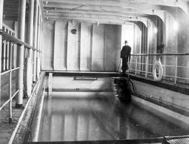 Swimming pool on Titanic