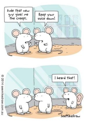 Laboratory mice cartoon