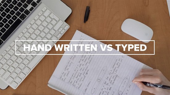 typing or writing