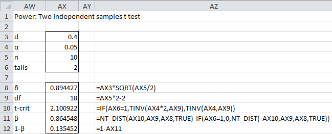 t test sample size requirements | Real Statistics Using Excel