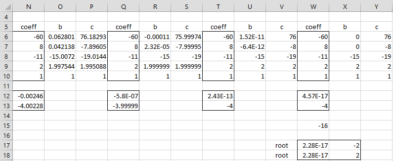 Bairstow's Method | Real Statistics Using Excel