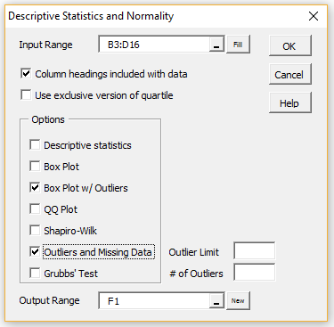 Outliers And Missing Data Real Statistics Using Excel