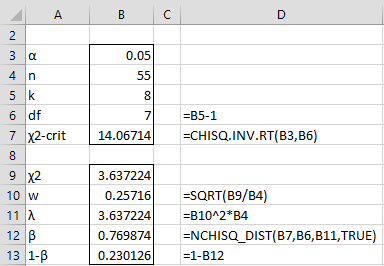 Power of Chi-square Tests | Real Statistics Using Excel