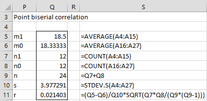 Relation: correlation & t-test | Real Statistics Using Excel