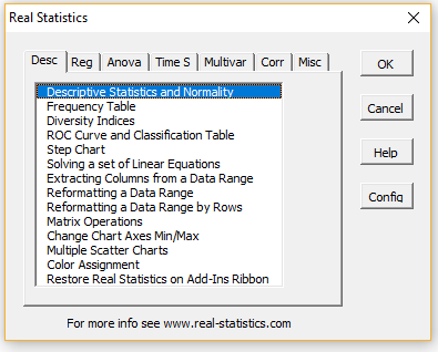 Real Statistics Supplemental Data Analysis Tools | Real Statistics