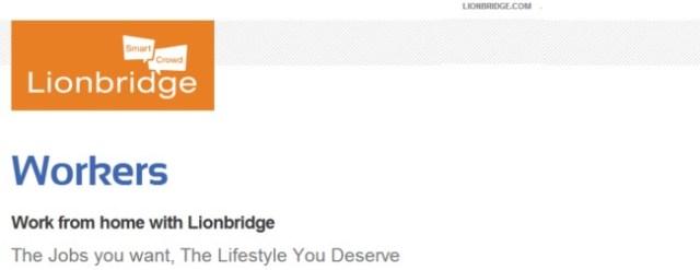 Lionbridge Work From Home Jobs