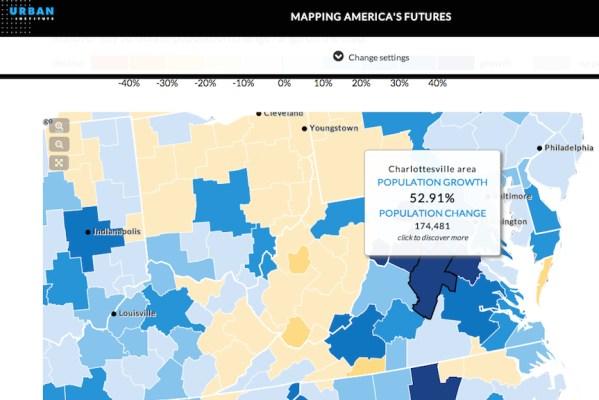Charlottesville Albemarle Population growing