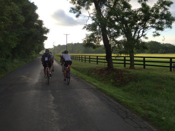 Riding bicycles on Jarmans Gap Road