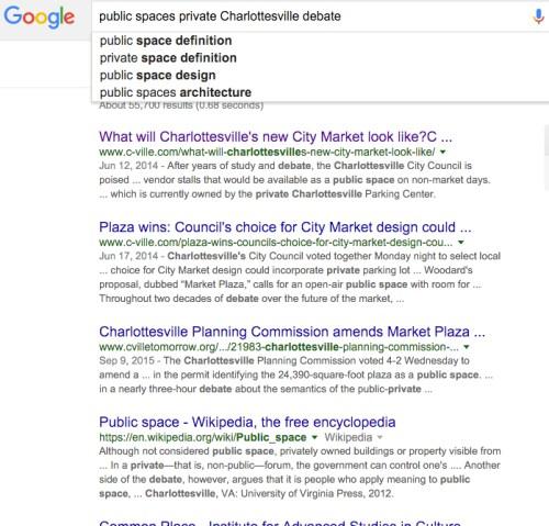 public spaces private Charlottesville debate - Google Search