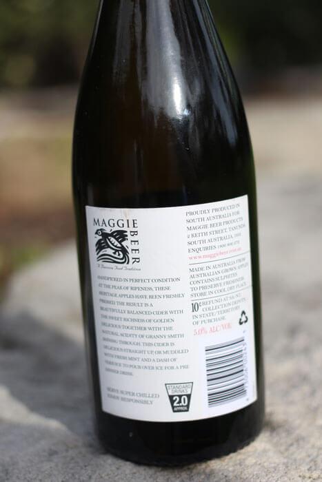 Maggie Beer Heritage Apple Cider Label