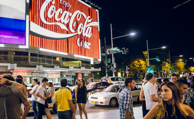 Late Night in Kings Cross Before Sydney's Lockout Laws