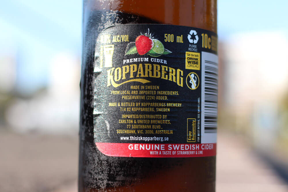 Kopparberg Strawberry Lime review