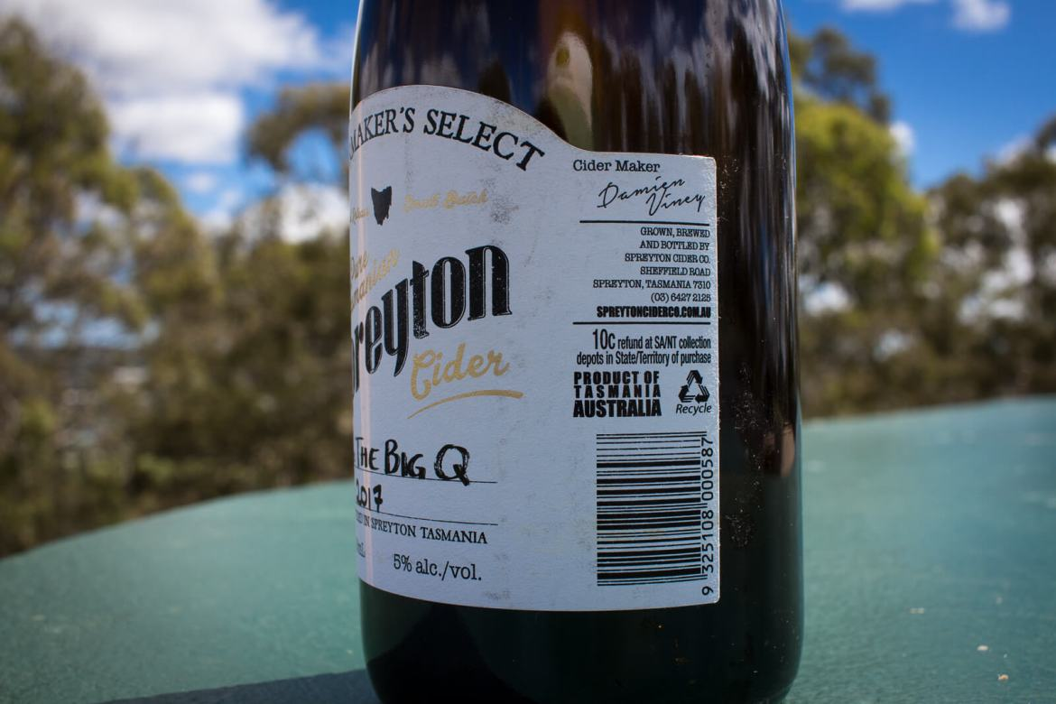 Spreyton The Big Q Bottle