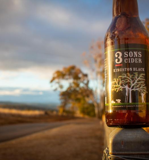 3 Sons Kingston Black Cider bottle