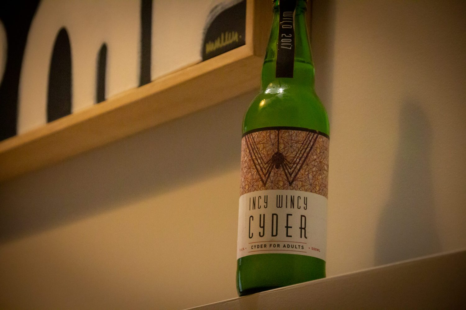 bottle of Incy Wincy Cider Wild 2017