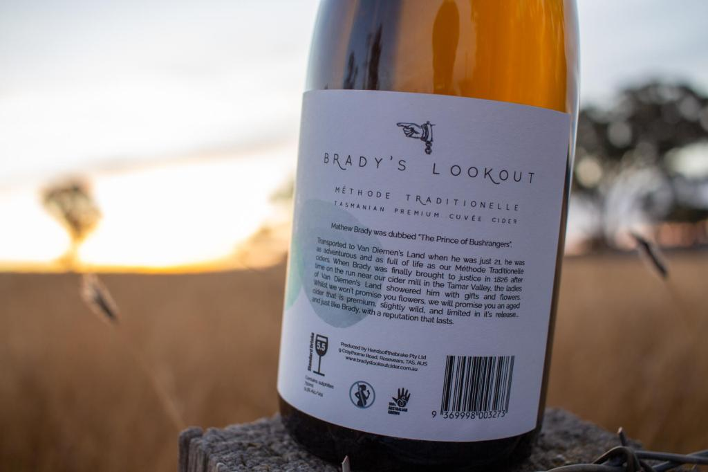 Brady's Lookout 2017 Cuvee Cider bottle rear label