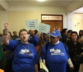 Senior Citizens Disrupt Massachusetts Legislative Session