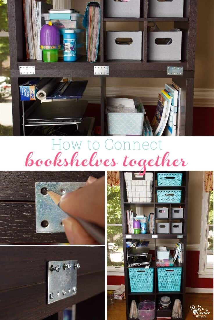 How To Connect Freestanding Bookshelves Or Storage Shelves