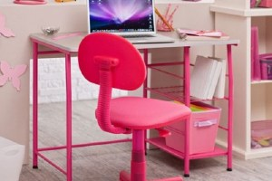 Pink Study Room Furniture And Decorating for Girl