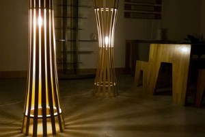 Floor Lamp decoration with elegant pinch and splay Lamp
