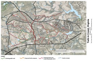 January 2012 Crozet Trails Map - draft