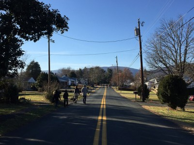 Walking to Downtown Crozet