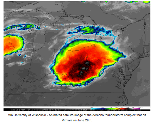 Animated Satellite Image of Derecho Thunderstorms That Hit Virginia & Nelson on June 29, 2012 | Blue Ridge Life Magazine _