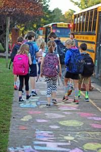 Chalk art at Brownsville