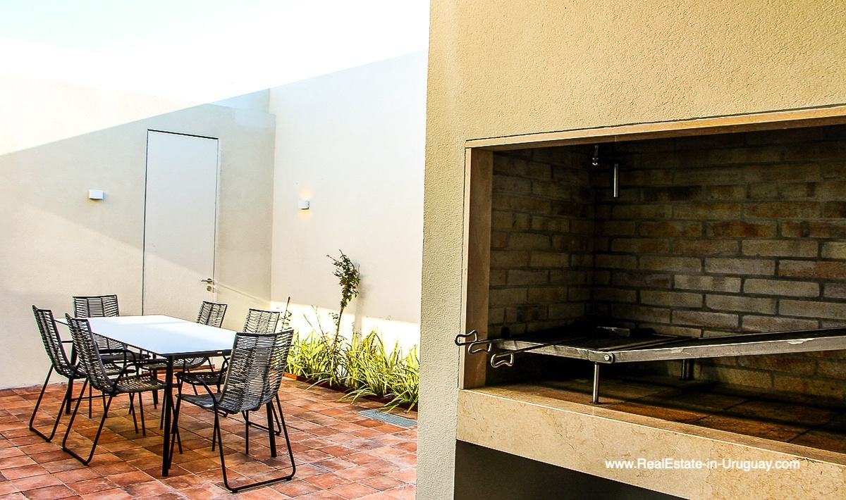 Courtyard and BBQ of Harmonious and Unique Lifestyle by the Ocean in Las Carcavas