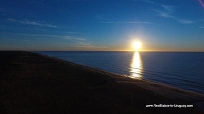Beach Sunrise of Harmonious and Unique Lifestyle by the Ocean in Las Carcavas