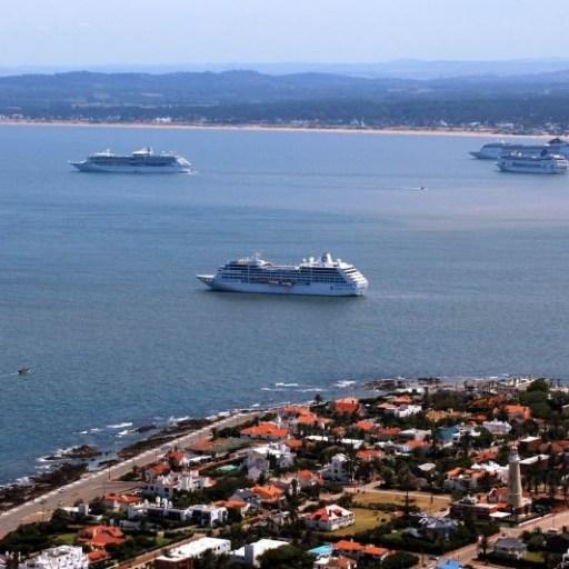 Cruise ship in Punta Del Este, Uruguay