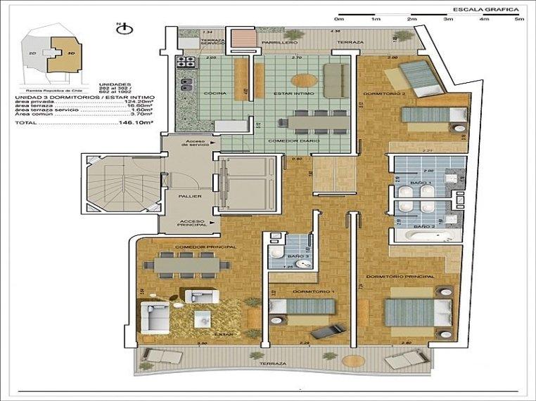 1492-Blueprint-of-Sea-View-Condos-in-Malvin-Area-Montevideo