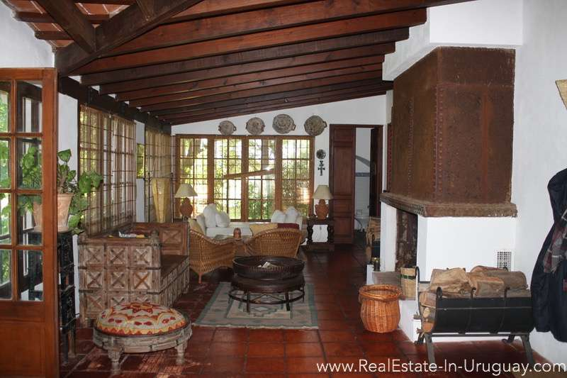 Inside of Large Ranch close to La Barra