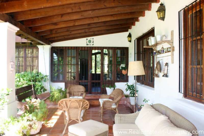 Terrace of Large Ranch close to La Barra