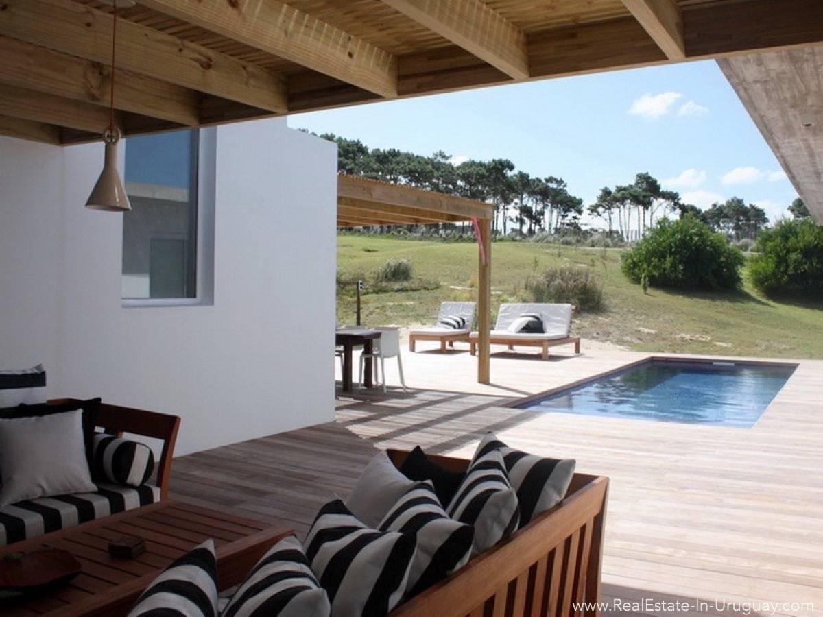 Beach House in Jose Ignacio Terrace and Pool