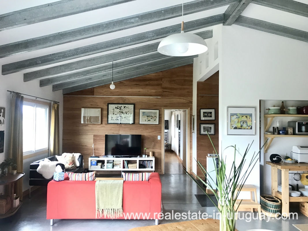 Living room of Modern Sustainable Bio Chacra in Pueblo Eden New Built