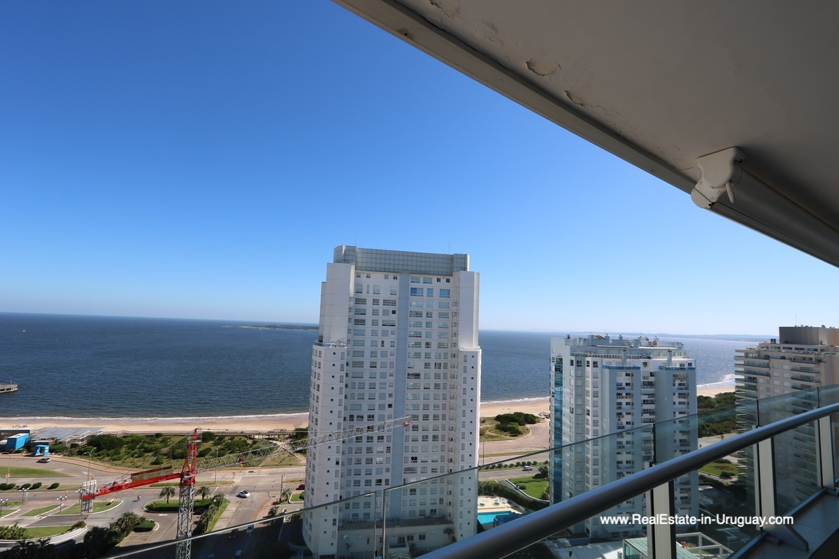 View to ocean of Bright Modern Apartment with Sea Views in Punta del Este