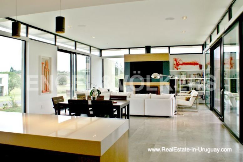 Living Room of Modern Home in the Gated Community Altos De La Tahona near Montevideo